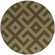 rug #314561 | round mid-brown popular rug