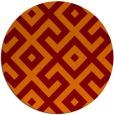 rug #314629 | round orange geometry rug