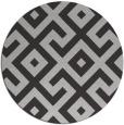 rug #314641   round red-orange geometry rug
