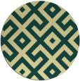 rug #314645 | round yellow geometry rug