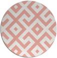rug #314661   round white geometry rug