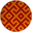 rug #314685 | round red rug