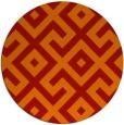 rug #314685 | round orange rug