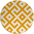 rug #314777 | round light-orange geometry rug