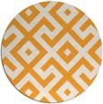 rug #314789   round light-orange rug