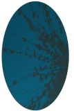 rug #315573   oval blue-green natural rug