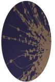 rug #315605 | oval blue-violet rug