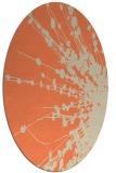 rug #315693 | oval orange natural rug