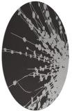 rug #315697 | oval orange natural rug
