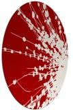 rug #315737 | oval red rug