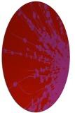 rug #315749   oval red popular rug