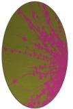 rug #315825 | oval light-green rug