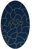 rug #319053 | oval green abstract rug