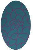 rug #319081 | oval blue-green natural rug