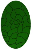 rug #319085 | oval green abstract rug