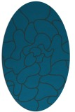 rug #319097 | oval blue graphic rug