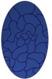 rug #319121   oval blue-violet abstract rug