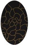 rug #319133 | oval black rug
