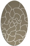 rug #319157 | oval white abstract rug