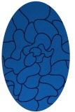 rug #319185   oval blue graphic rug