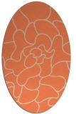 rug #319213 | oval beige natural rug