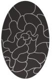 rug #319217   oval orange abstract rug