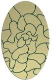 rug #319221 | oval blue-green rug