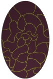 rug #319245 | oval purple graphic rug
