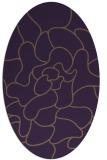 rug #319249   oval purple graphic rug