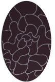 rug #319253 | oval purple graphic rug
