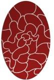 rug #319265 | oval red popular rug