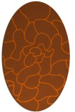 rug #319281 | oval red-orange abstract rug