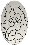 rug #319289   oval white abstract rug
