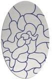 rug #319297 | oval blue abstract rug