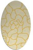 rug #319305 | oval yellow natural rug