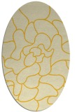 rug #319305   oval yellow graphic rug