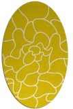 rug #319317 | oval white abstract rug