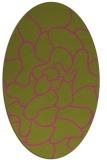 rug #319345 | oval pink natural rug