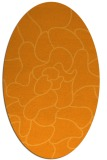 rug #319361 | oval light-orange abstract rug