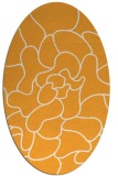 rug #319365 | oval light-orange natural rug