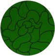 rug #319789 | round green abstract rug