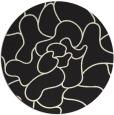 rug #320029 | round black natural rug