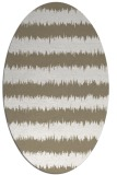 rug #324297 | oval beige stripes rug