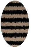 rug #324309 | oval beige stripes rug