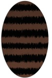 rug #324313 | oval brown stripes rug