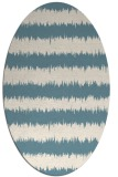 rug #324321 | oval white stripes rug