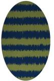 rug #324333   oval blue stripes rug
