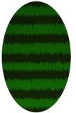 rug #324365   oval green rug