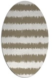rug #324437 | oval white stripes rug