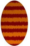 rug #324485   oval orange popular rug
